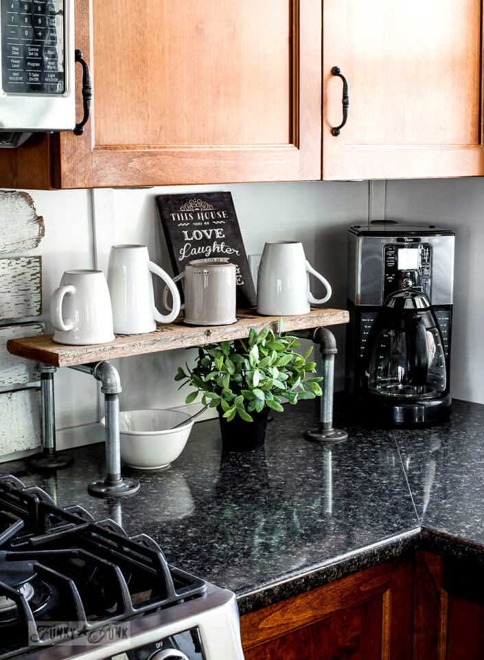 kitchen deco retro stoves 35 best diy farmhouse decor projects and ideas for 2019 1 make a mug stand with plumbing pipe