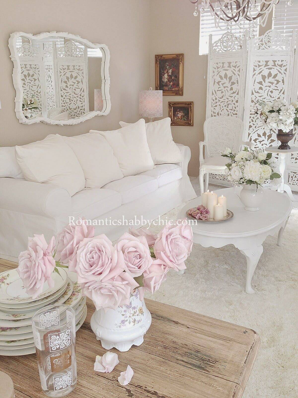 shabby chic living rooms pictures dried flowers for room 32 best decor ideas and designs 2019 1 white on with pink