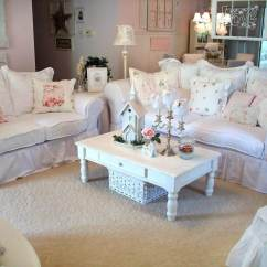 Shabby Chic Living Room Decorating Ideas Brown And Blue Curtains For 32 Best Decor Designs 2019 5 Cozy White Couches With Cushions