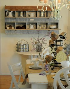 weathered wall shelf with antique pitchers also best country cottage style kitchen decor ideas and designs for rh homebnc