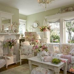 Shabby Chic Living Room Decorating Ideas Leather Accent Chairs For 32 Best Decor And Designs 2019 Design Idea With Pink Roses