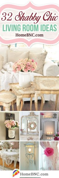 32 Best Shabby Chic Living Room Decor Ideas and Designs
