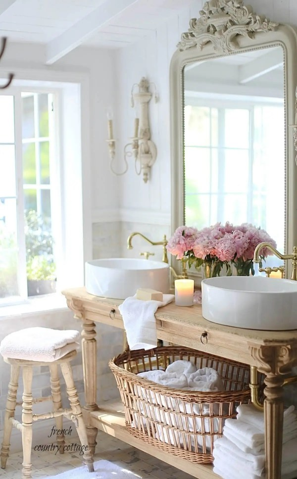 French Country Cottage Bathroom Designs