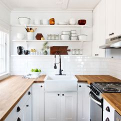 Small Kitchen Decor Farmhouse Industrial 30 Best And Design Ideas For 2019 Old Fashioned Faucet Offsets Bright White