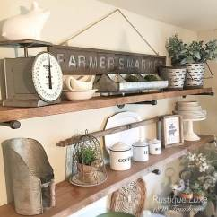 Kitchen Shelf Decor Exhaust Hoods 26 Best Farmhouse Ideas And Designs For 2019 Wooden Wall Shelves With Vintage Accents