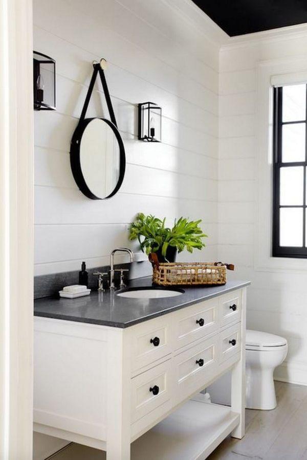 Black and White Farmhouse Bathroom Ideas