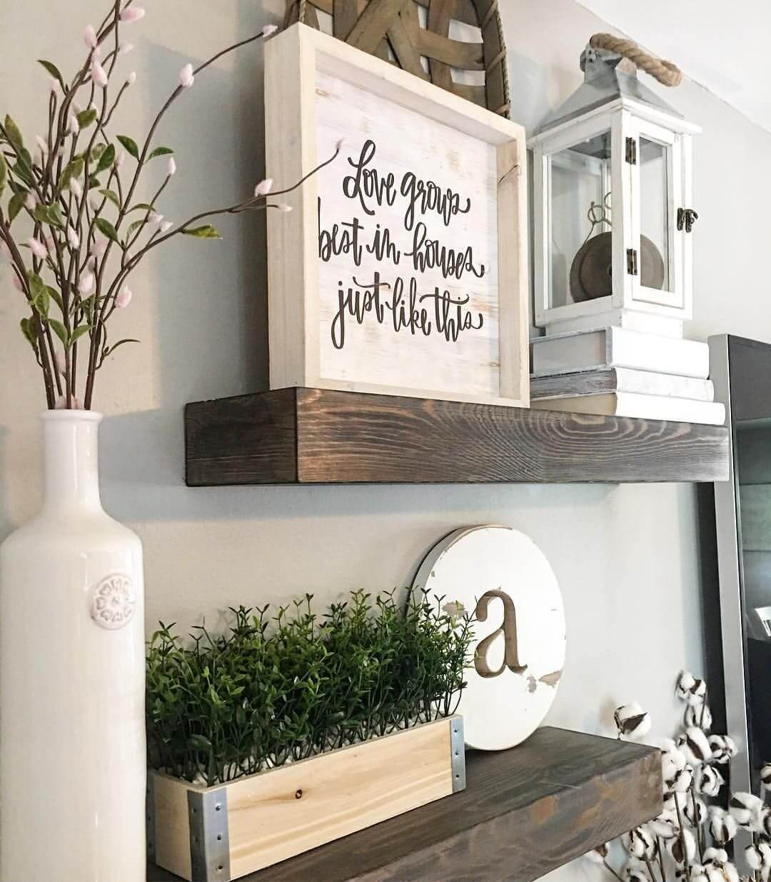 26 Best Farmhouse Shelf Decor Ideas And Designs For 2019