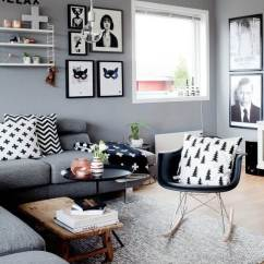 Black And Gray Living Room Decorating Ideas Designs Under The Stairs 25 Best Small Decor Design For 2019 White Arrangement
