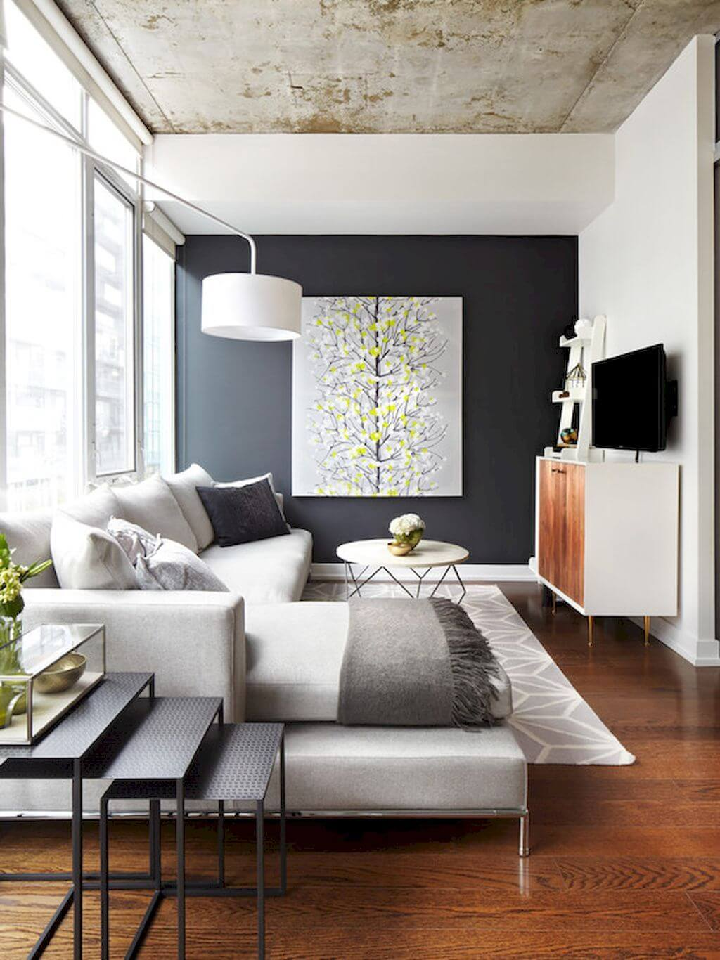 how to furnish small living room decorating ideas orange accents 25 best decor and design for 2019 contemporary with wall art