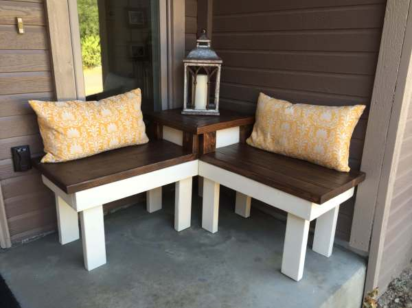 DIY Corner Table with Bench