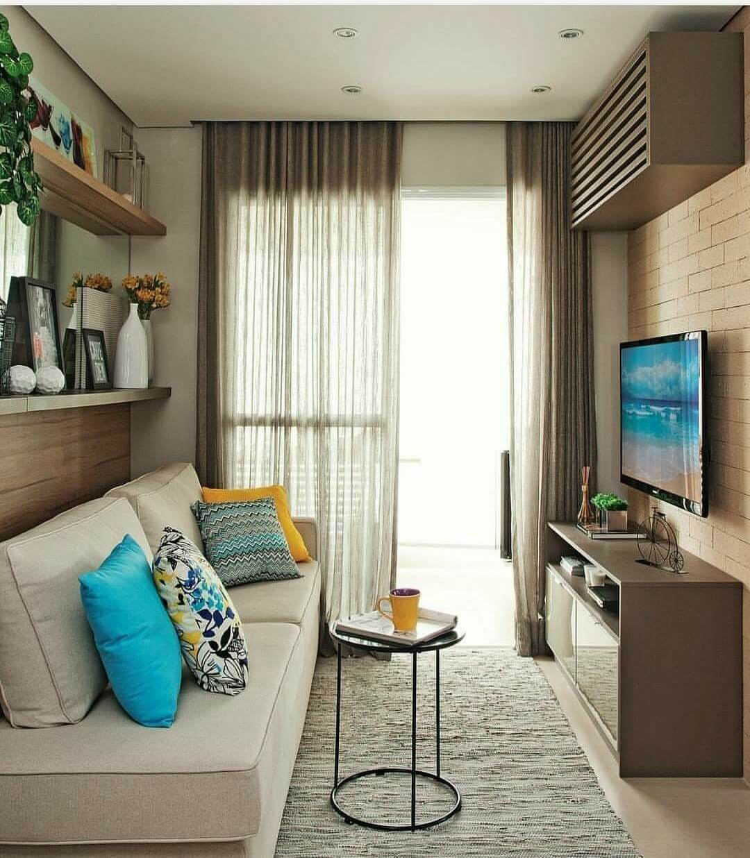 small living room ideas blue packages sydney 25 best decor and design for 2019 tall curtains bring height to the