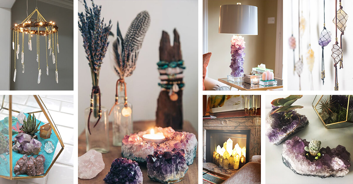 31 Best Decorating Ideas and Designs with Crystals and Stones for 2019