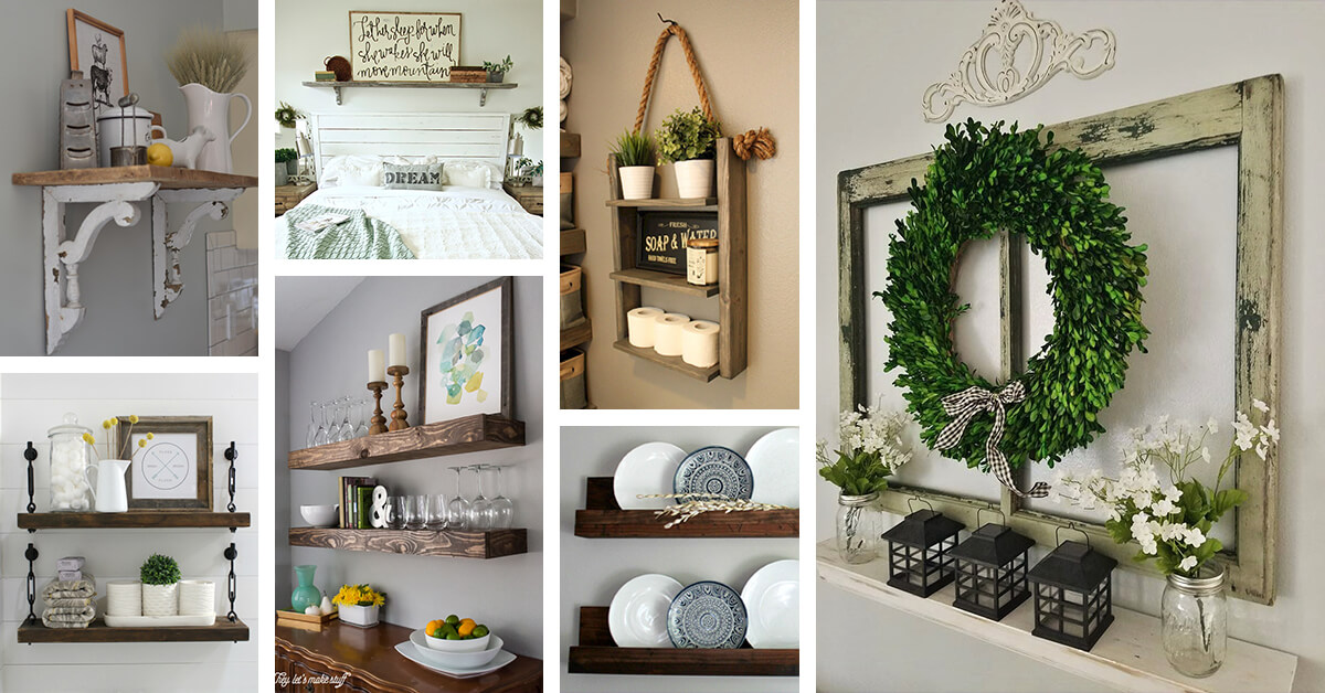 shelf ideas for living room groups 26 best farmhouse decor and designs 2019 that are both functional gorgeous
