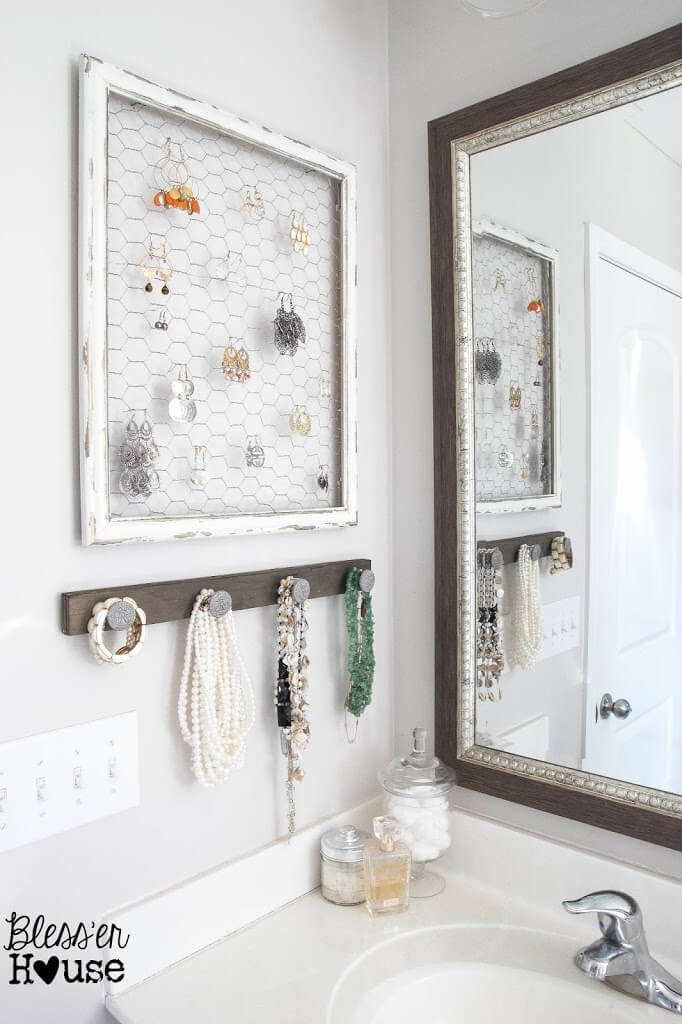 Cottage Chic Earring and Bracelet Displays