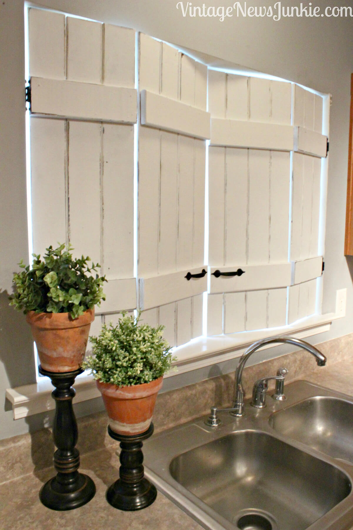 kitchen window shutters ideas for small rustic white in the homebnc
