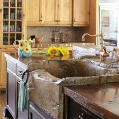 Rustic Kitchen Sink 4 Seat Island 26 Farmhouse Ideas And Designs For 2019 Natural Looking Stone