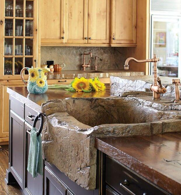 rustic kitchen sinks one hole faucet 26 farmhouse sink ideas and designs for 2019 natural looking stone