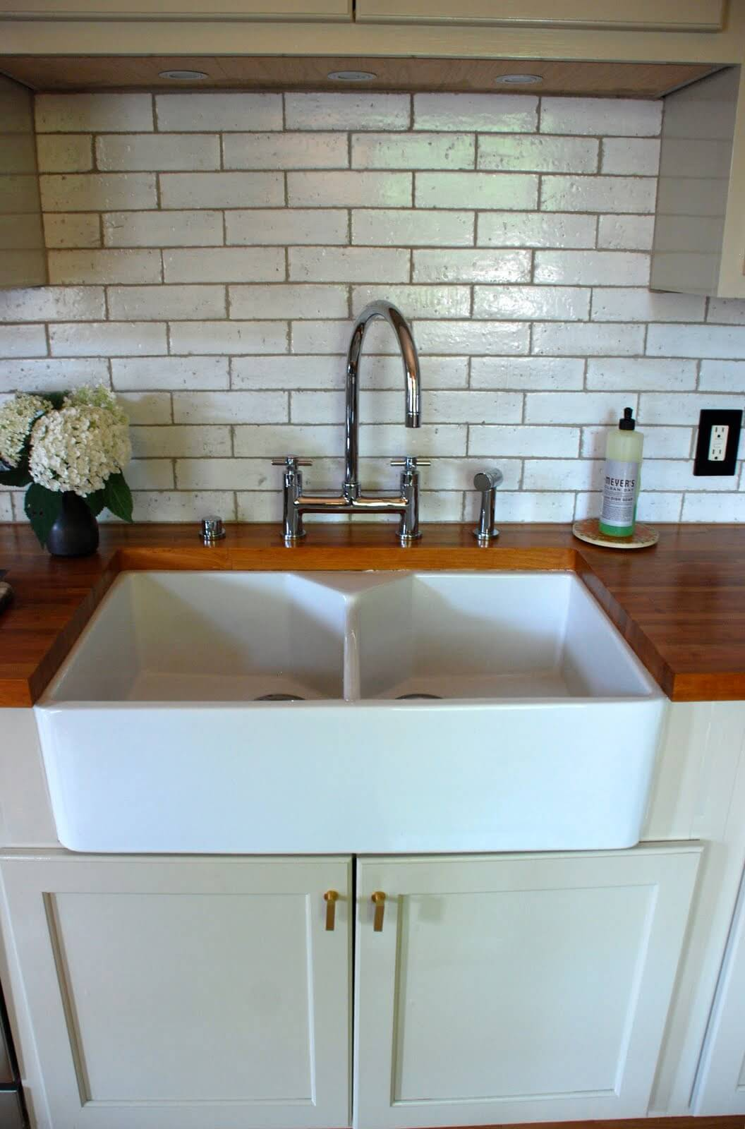 kitchen sink ideas white cabinets and backsplash 26 farmhouse designs for 2019