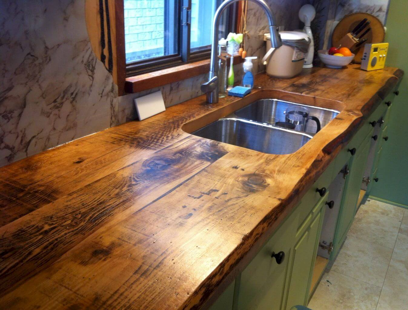 rustic kitchen sinks aid trash compactor 26 farmhouse sink ideas and designs for 2019 double in a wood counter