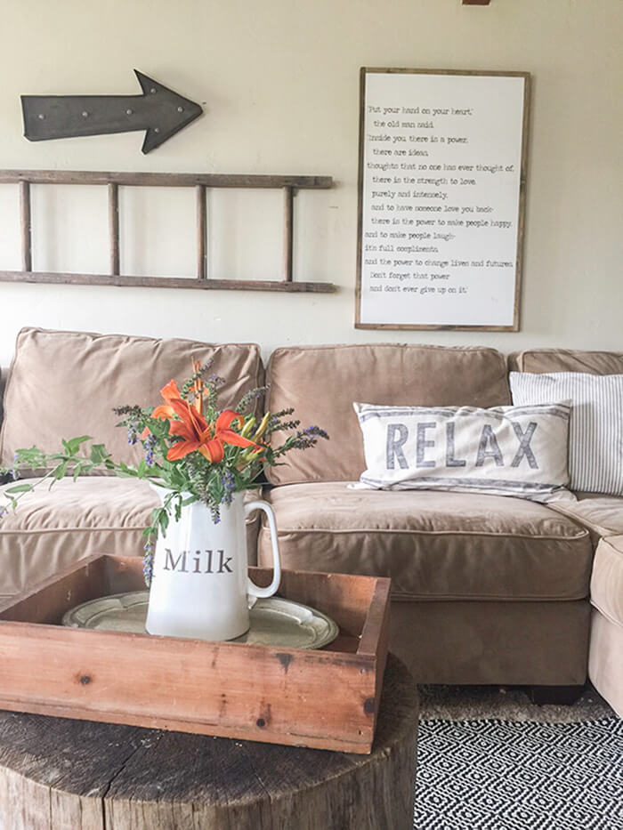 wall decorations for living room best rated furniture 33 rustic decor ideas and designs 2019 poem on the with old ladder