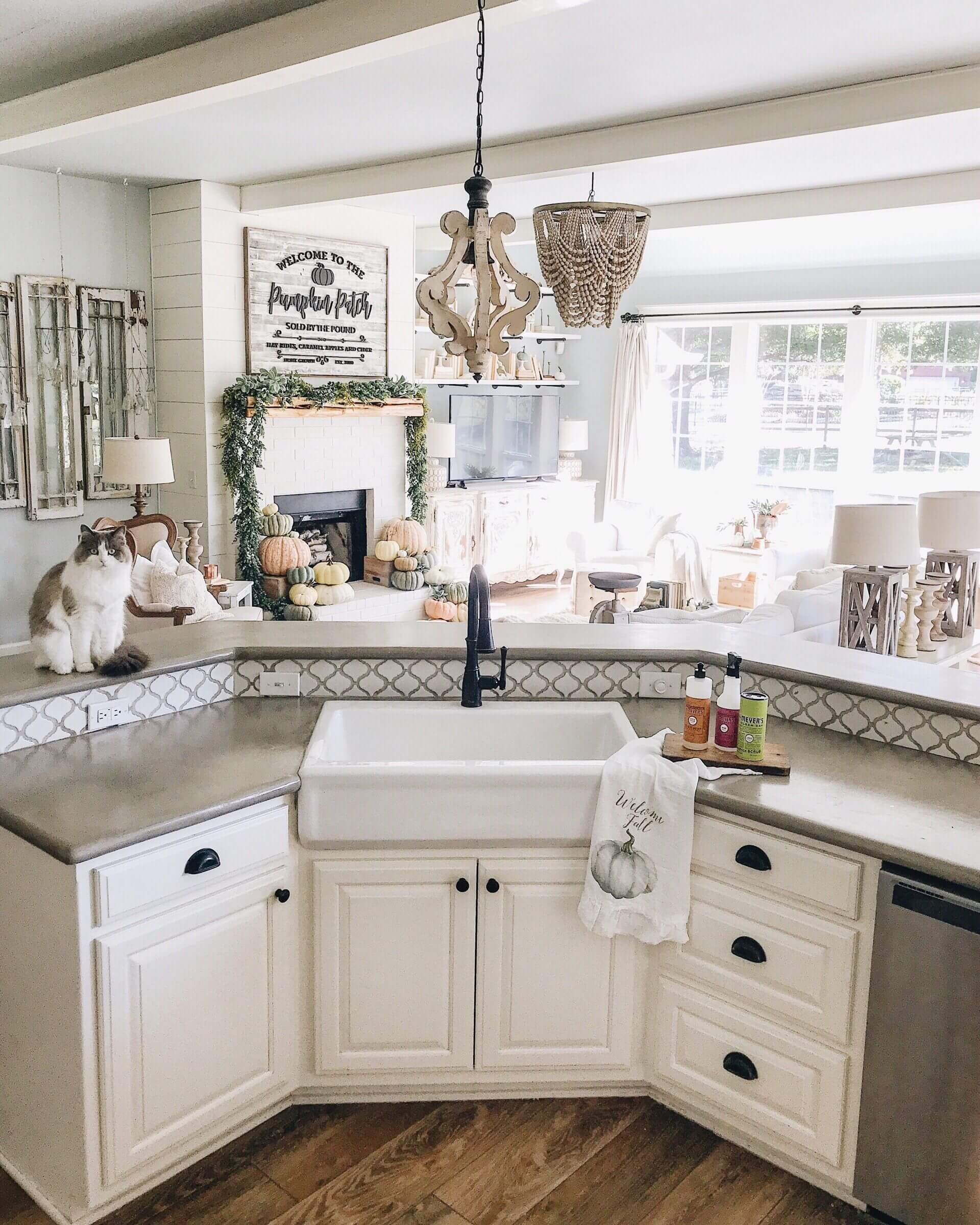 farm kitchen sink cabinets ct 26 farmhouse ideas and designs for 2019 in the island corner