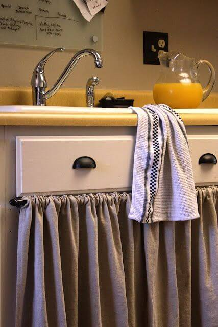 24 Best Kitchen Cabinet Curtain Ideas And Designs For 2019