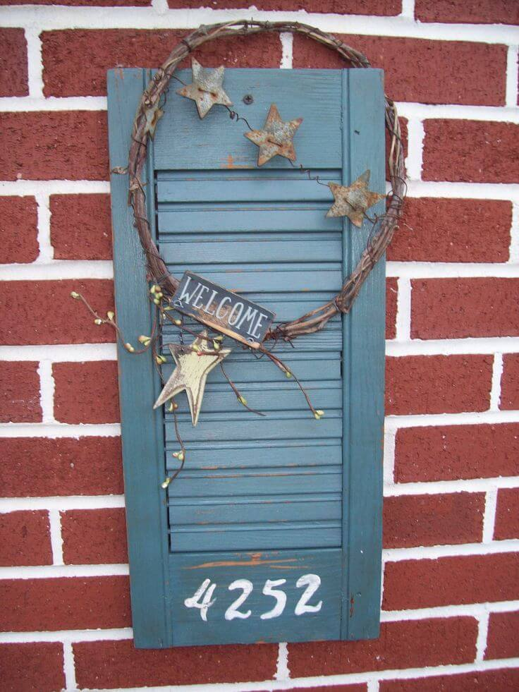 38 Best Old Shutter Outdoor Decor Ideas And Designs For 2019