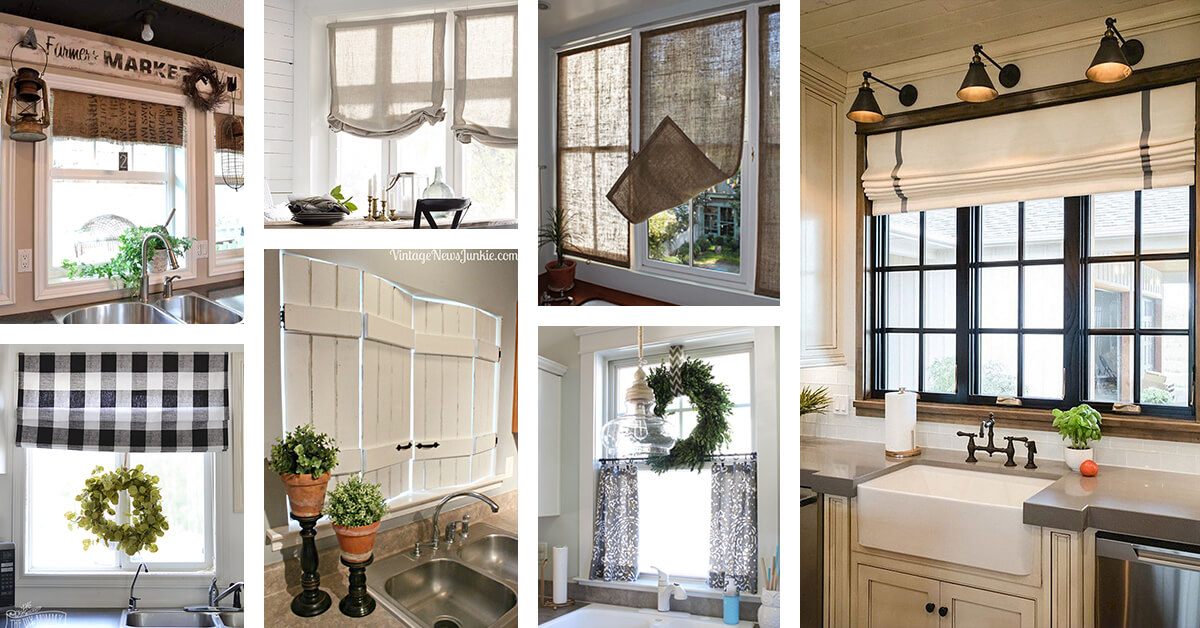 kitchen window coverings build your own cabinets 26 best farmhouse treatment ideas and designs for 2019 to bring old fashioned charm home