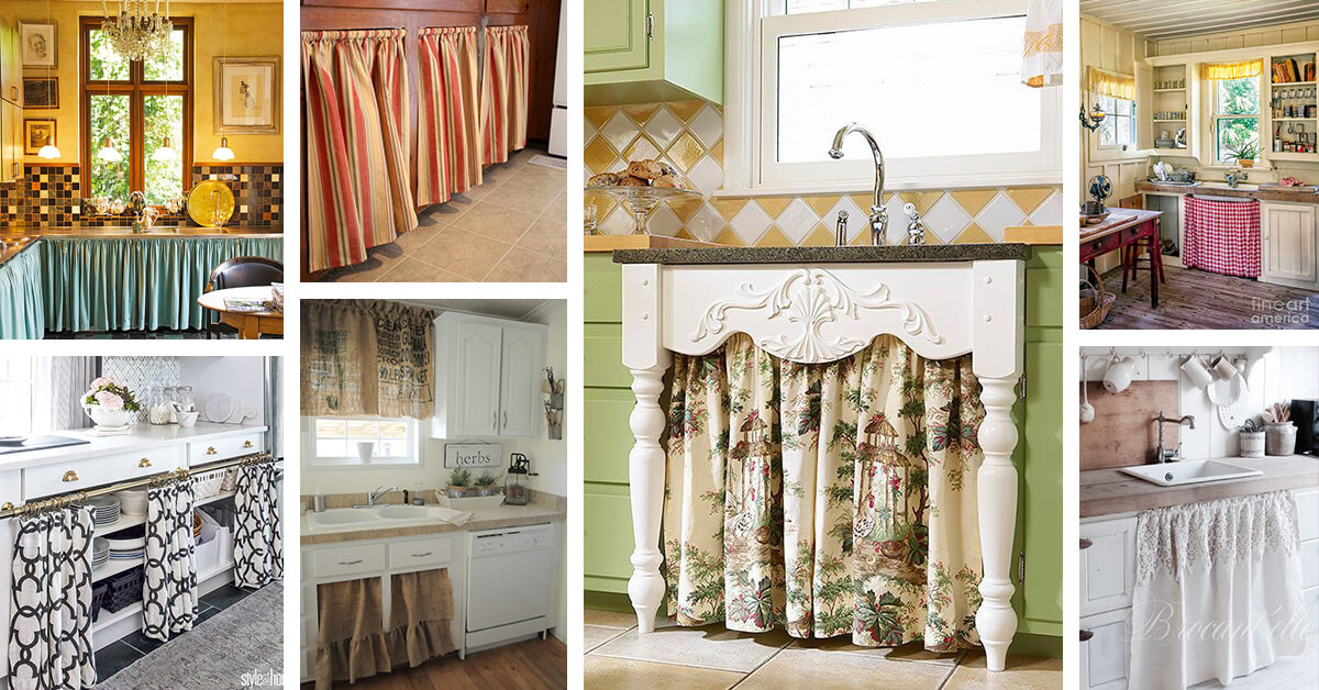 unique kitchen cabinets kitchens ideas 24 best cabinet curtain and designs for 2019 an adorable home decor style