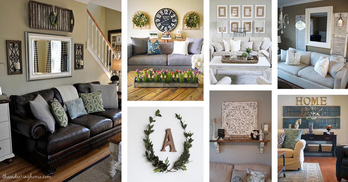 33 Best Rustic Living Room Wall Decor Ideas And Designs For 2020