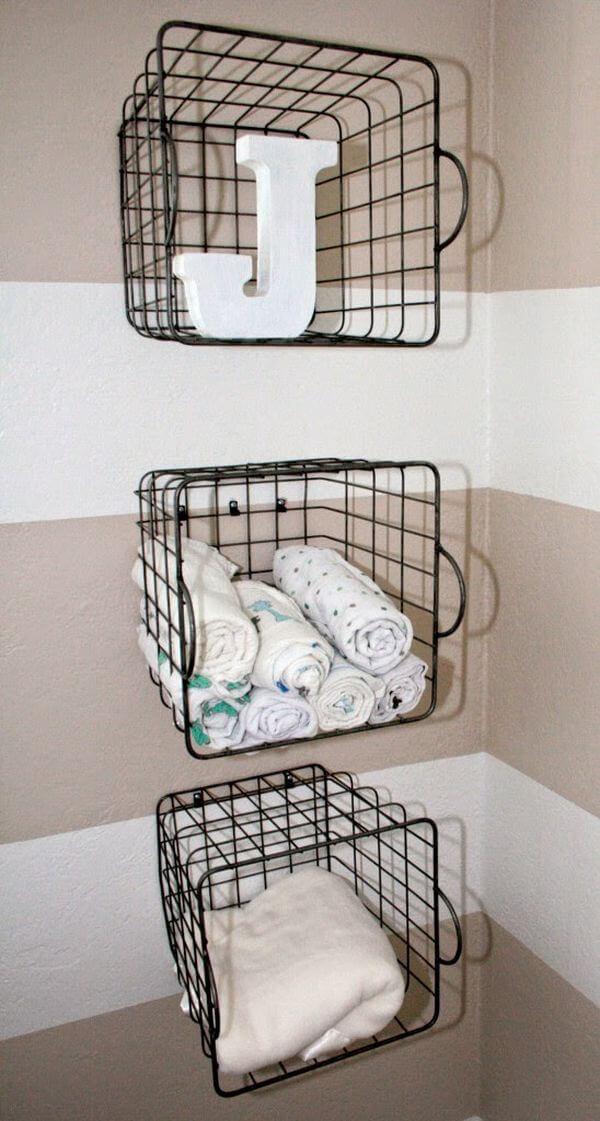 45 Best Hanging Bathroom Storage Ideas for 2019