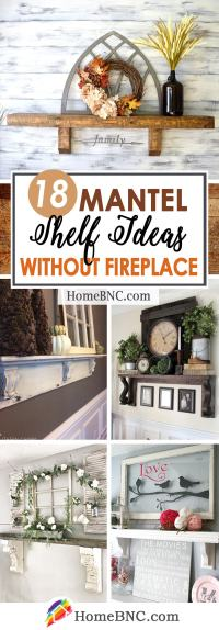 18 Best Mantel Shelf Ideas without a Fireplace for 2018