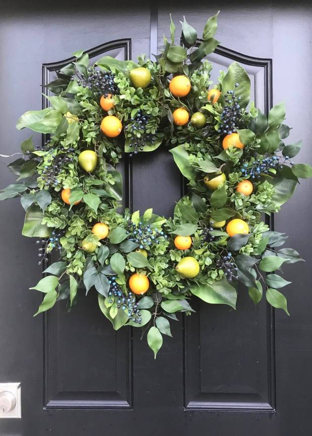 Fruit Spring Wreath Ideas from Etsy