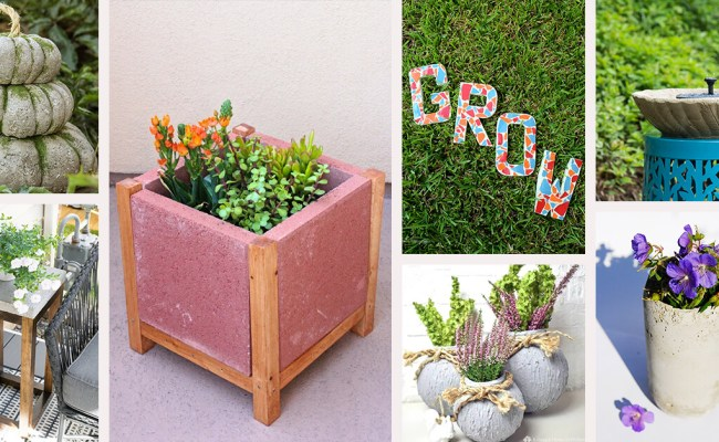 17 Easy Diy Garden Cement Project Ideas On A Budget For 2020