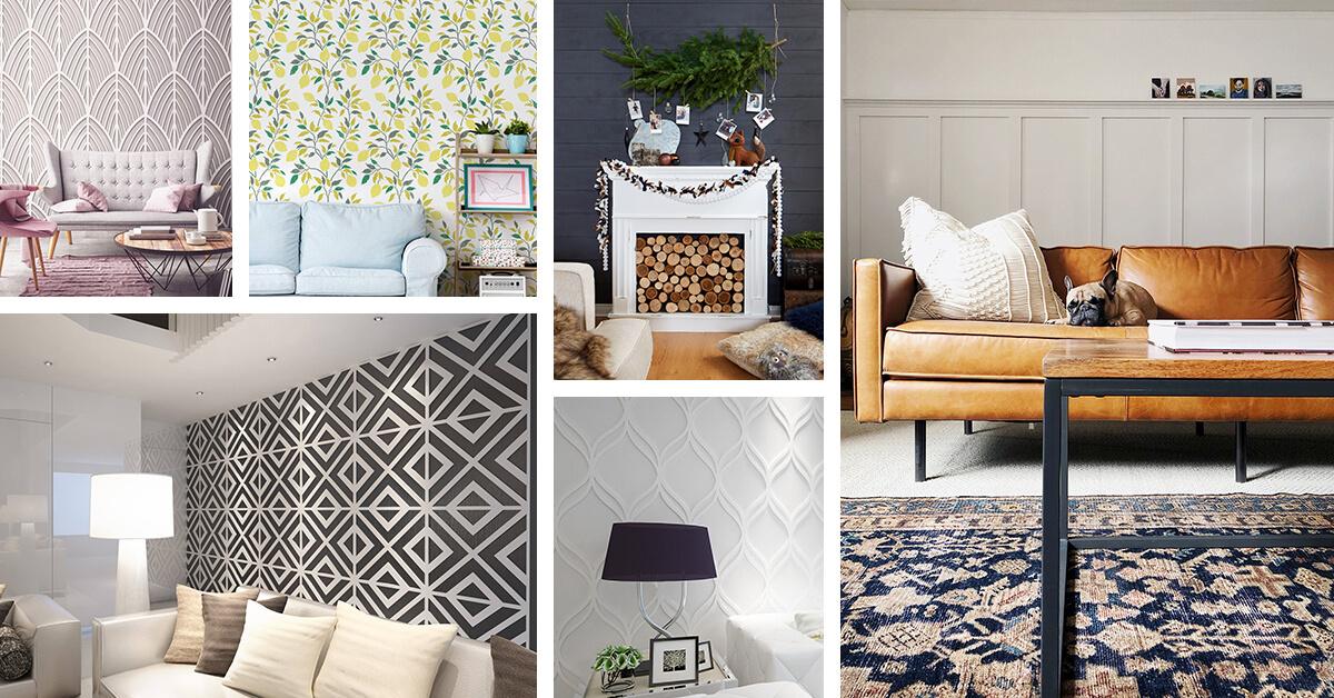 Living Room Accent Wall Design Ideas  Homebnc