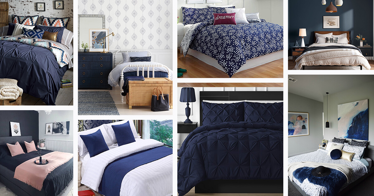 16 Best Navy Blue Bedroom Decor Ideas For A Timeless Makeover In 2020