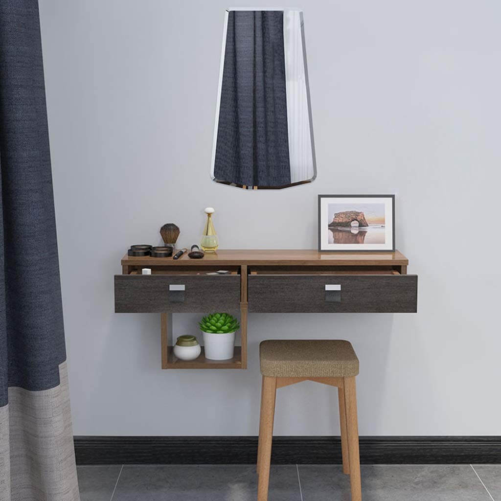 Old Timey Wood Wall Mounted Desk