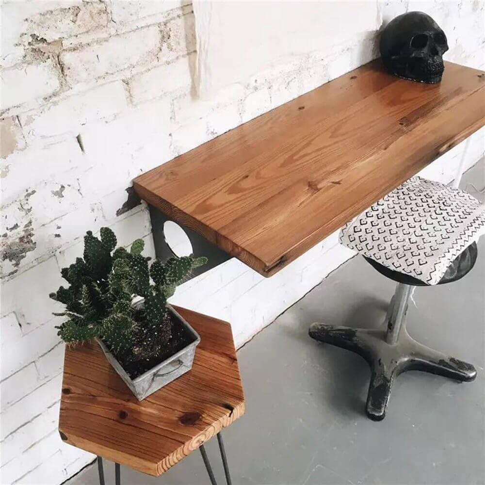 Solid Wood Plant Style Home Decoration Desk