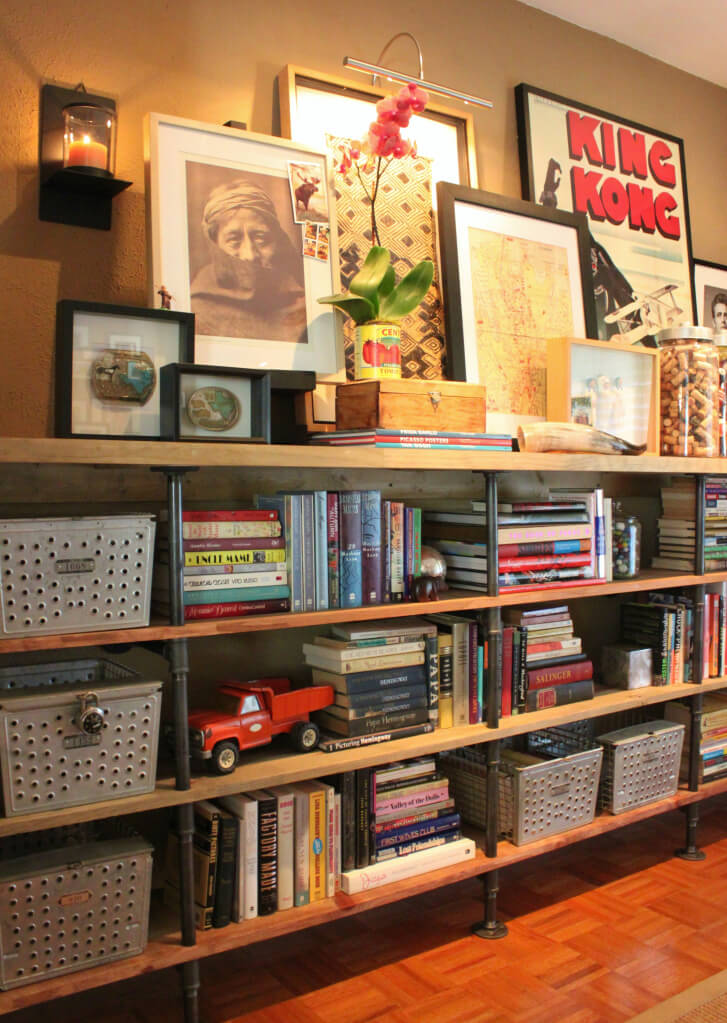 Sturdy, Affordable, and Chic Pipe Bookshelf