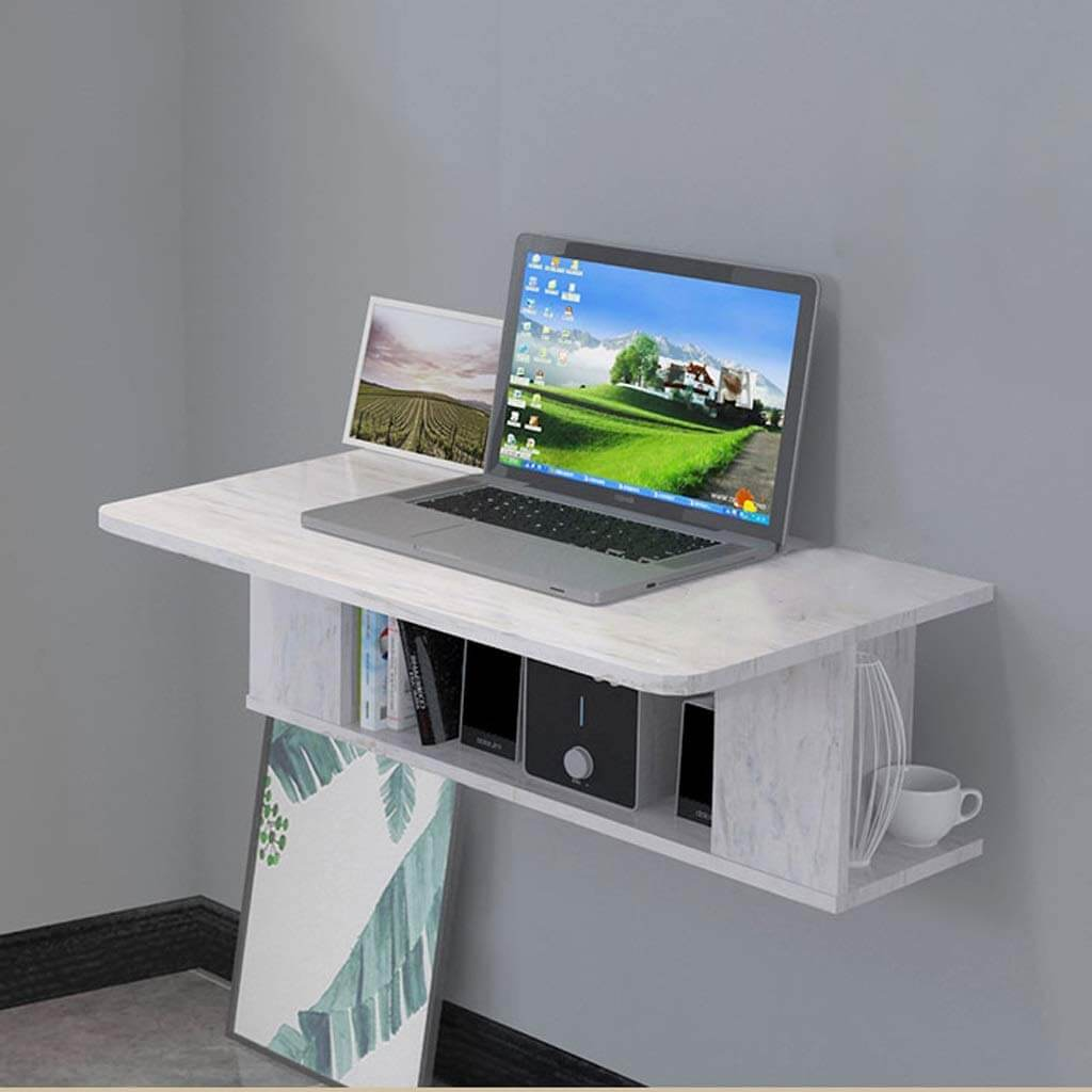 Small Marble Printed Wall Desk Ideas