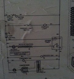 photo of the wiring schematic on the back of the unit [ 2448 x 3264 Pixel ]