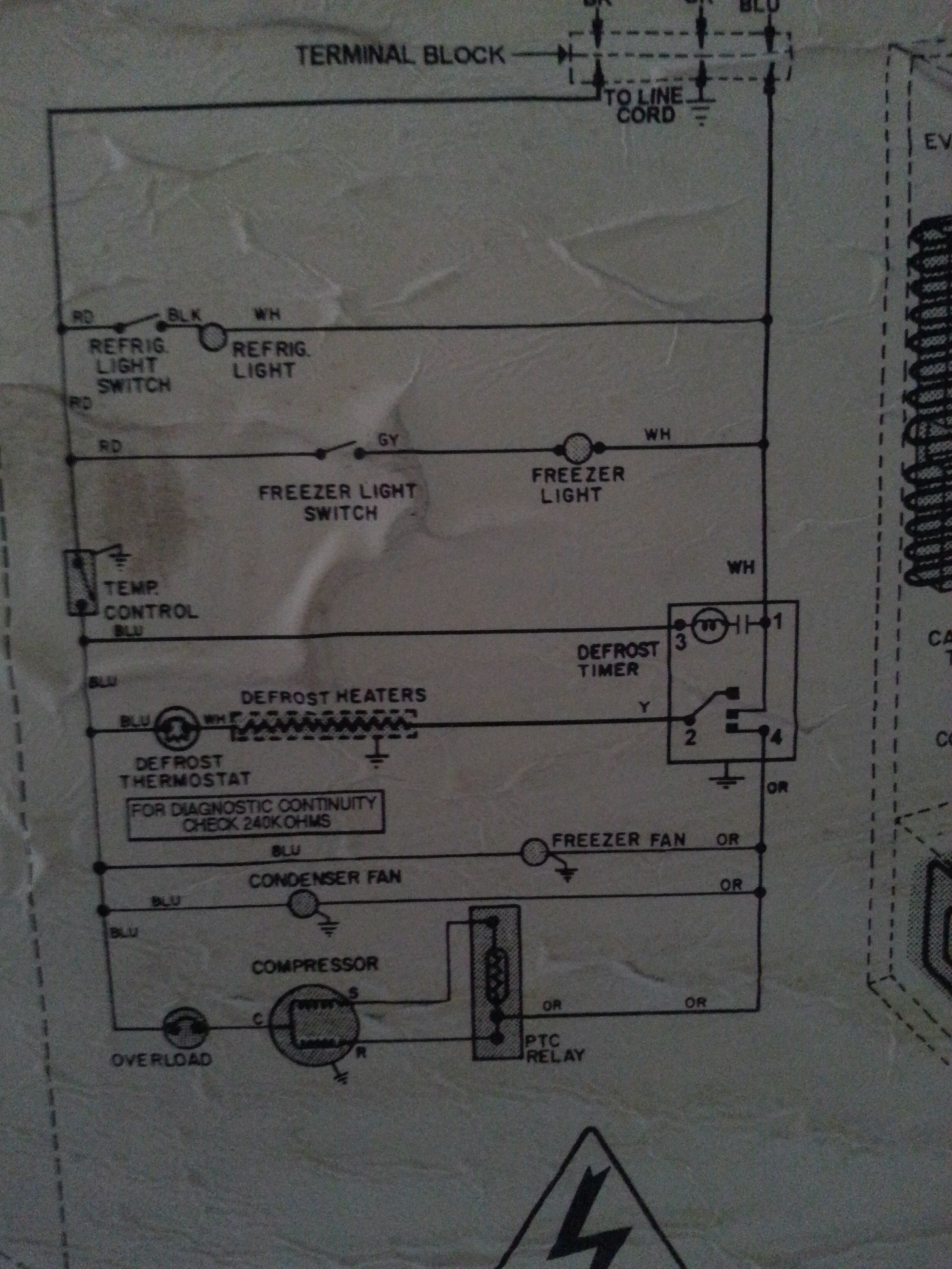 hight resolution of photo of the wiring schematic on the back of the unit
