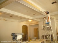 Great Room Wood Coffered Ceiling | The Homebuilding ...