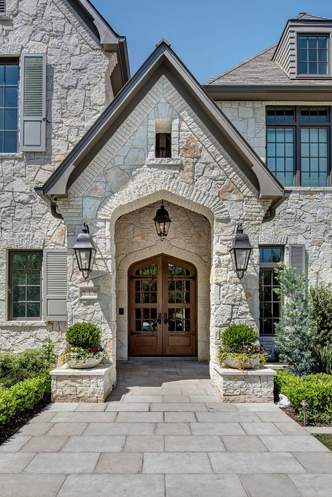 Stone Home With Transitional French Country Interiors