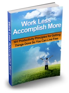 Work Less Accomplish More Cover