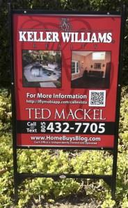 ted mackel real estate listing marketing yard sign