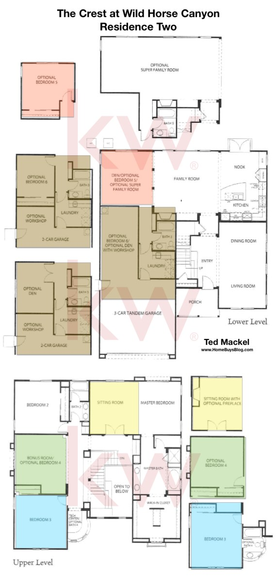 The Crest at Wild Horse Canyon Residence Two Floorplans