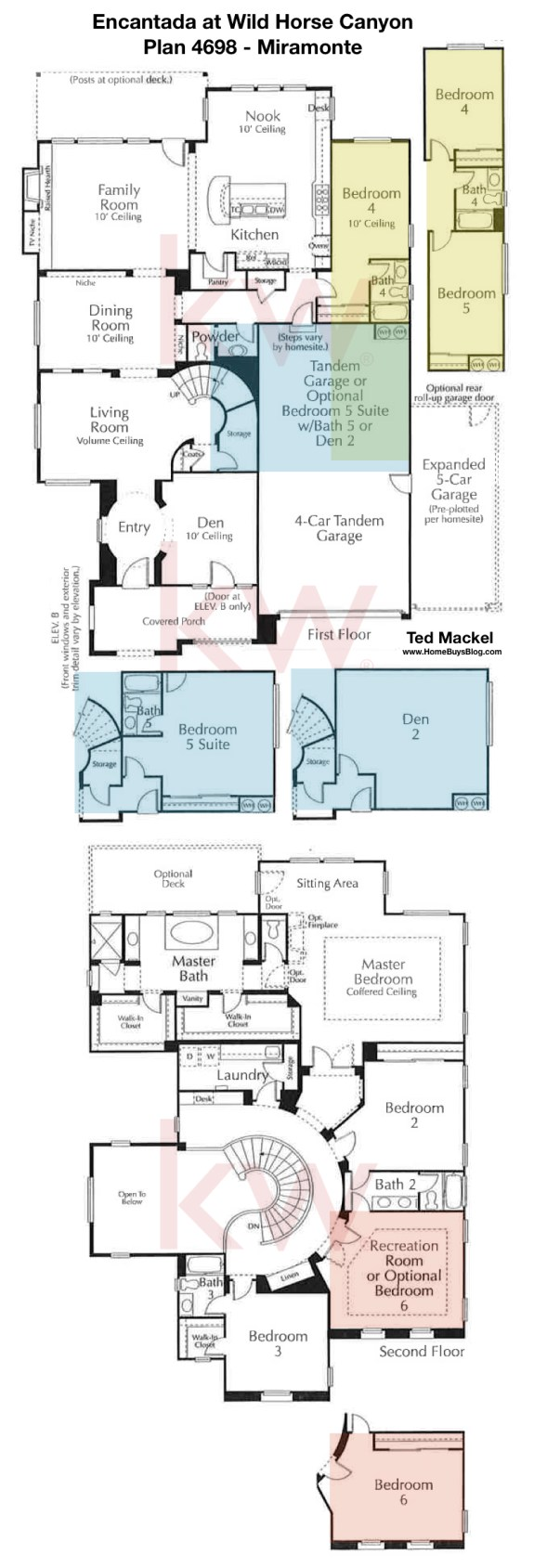 Encantada at Wild Horse Canyon Plan 4698 Floor Plan Miramonte