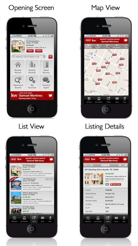 KW My Mobile App Screen Views