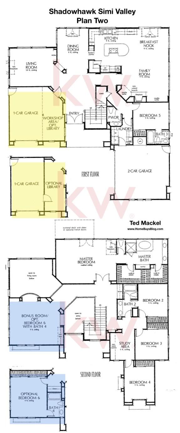 Shadowhawk Plan 2 Floor Plan Simi Valley